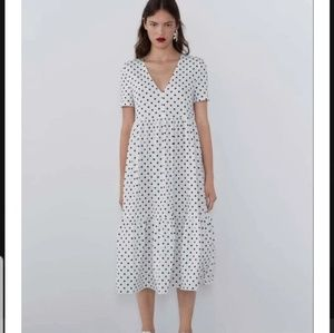 ZARA printed Polka Dot Dress
